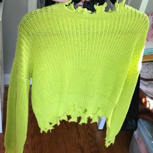 Forever 21 Distressed Sweater Top